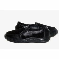 POKROK Black Mens PU Sole Shoes, Size: 6 x 10