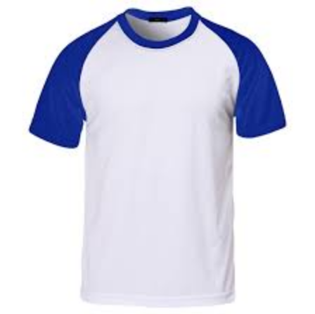 White And Blue Designer Mens Color Round Neck T-shirts