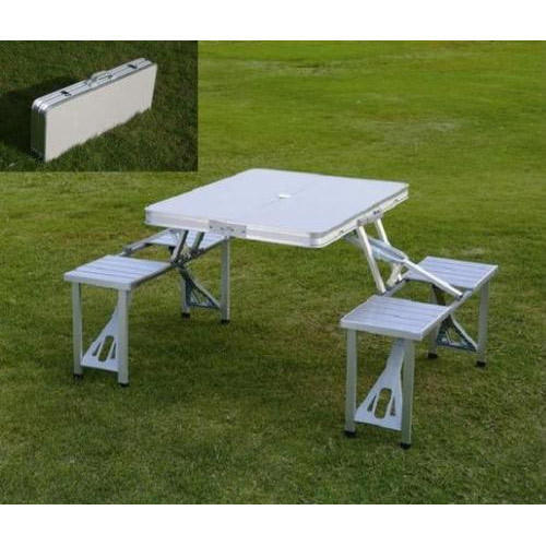 Stupendous Aluminium Foldable Picnic Table Onthecornerstone Fun Painted Chair Ideas Images Onthecornerstoneorg