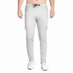 Spandex Mulicolor Men's Athleisure Stretchable Four Way Polyester Lycra Track Pant, Size: Large