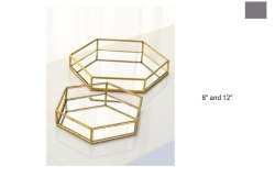 Hexagonal Mirror Tray