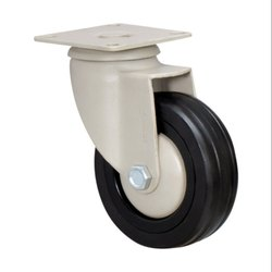 DXJ Series Fitted with Black Rubber Wheel Swivel Castors