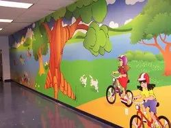 Pre Play School Wall Painting