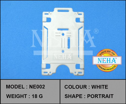 NEHA Plastic ID Card Holder White, Model Number: NE002