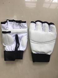 White Taekwondo Gloves, Size: Large, Model Name/Number: PE07