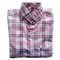 Assorted Collar Neck Men Casual Wear Checked Shirt, Handwash