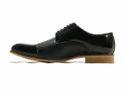 Black Patent Derby Men Shoes