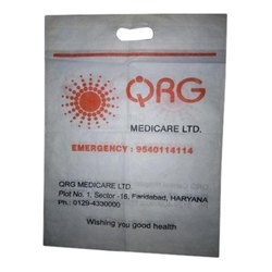 White Printed Non Woven Carry Bags