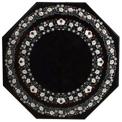 Black Marble Square Coffee Table Top