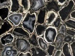 Precious Black Agate Stone Slabs