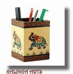 Wodden Elephant Pen Stand