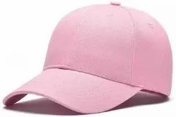 Pink Cotton Baseball Caps and Hats