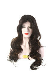 Real Hair Curly Long Wig