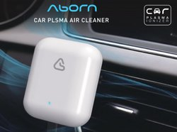 Ionizer Aborn White Car Plasma Air Cleaner