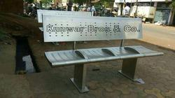 Stainless Steel railway bench supplier.
