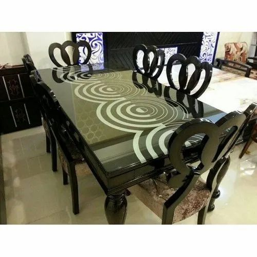 6 Seater Glass Top Dining Table Sets, Dining Room Sets For 6