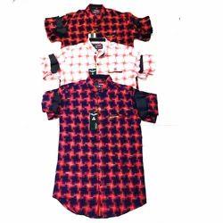 Cotton Casual Wear Mens Designer Shirt