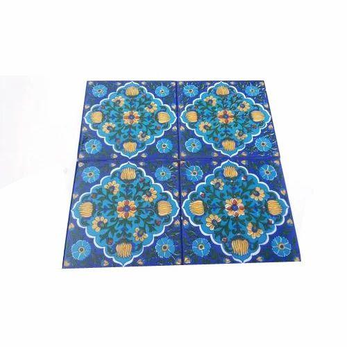 Shiv Kripa Blue Pottery Tile Size X Inch ID - 5x5 inch tiles