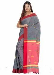 Habibpur Saree Kuthir Women's Guti Khadi Saree with Blouse Piece (By_Color_Free Size)