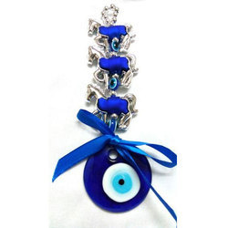 Feng Shui Evil Eye Hanging for Protection with Silver Horse