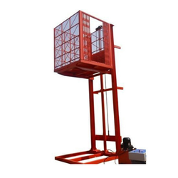 Hydraulic Cage Lift, Capacity: 0-200 kg and 1-2 ton
