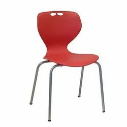 Plastic Chrome Plated Cafeteria Chair