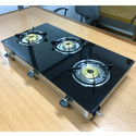 3 Burner Premium Glass Top Gas STove