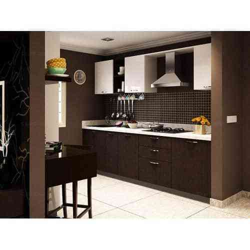 Modern Modular Kitchen Manufacturer From: Brown Modern Modular Kitchen, Rs 850 /square Feet, Panel