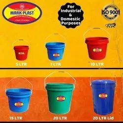 Plastic Paint Bucket 5 7 10 15 20 LTR