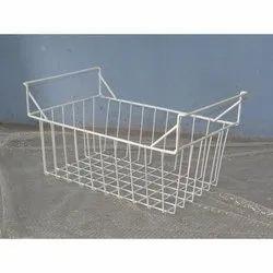 Glossy Stainless Steel Deep Fridge Basket ( Icecream Fridge Basket), For Commercial