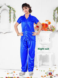 Stylish Ladies Plain Night Suit