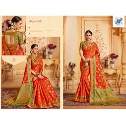 Aayushmati Wedding Wear Silk Saree
