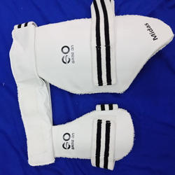 Gameon White and Black Cricket Thigh Pad