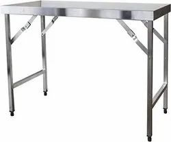 SVE Silver Ss Folding Dining Table, For Restaurant, Size: 6ft X 1.5ft