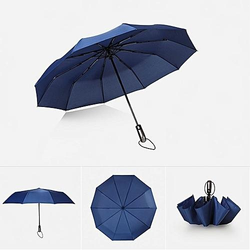 Colombo Blue Three Fold Umbrella Size
