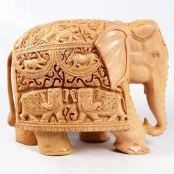 Sandalwood Elephant Statues