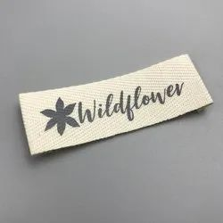 off white Cotton Tap Brand Labels, For Garments, Packaging Type: Roll