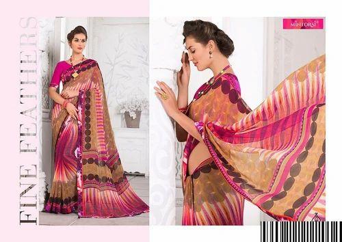 a8bf2e241b1487 Multicolor Printed Mintorsi Amarpali Georgette 3757 Series Designer Saree