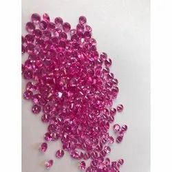 Synthetic Ruby Round Gemstone