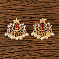 Indo Western Trendy Earring With Gold Plating 9414, Size: Height = 50 Mm || Width = 55 Mm