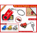 Mini Swivel Pendrive With Keyring H-1083