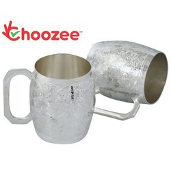 Silver Beer Mug Set