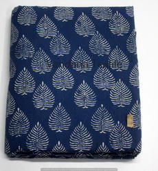 Indigo Printed Cotton Fabric