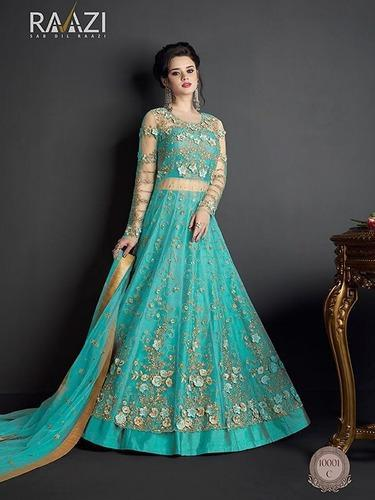 75291368bc5 Modern Beautiful Wedding and Bridal Designer Full Length Anarkali Style Gown