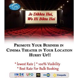 Offline Cinema Hall Advertising Services, in Local Area