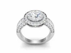 Solitaire Round Cut Platinum Wedding Ring