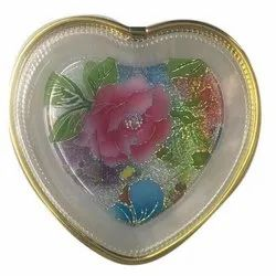Heart Shaped Plastic Bowl, For Home, Set Contains: 6 Piece