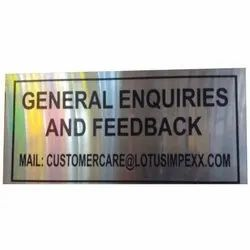 Stainless Steel Sign Boards