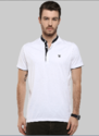 White Henley Mix and Match Polo T Shirt