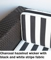 Sectional L Shape Wicker Sofa Set